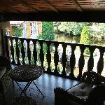 La terrasse de la chambre Eglantine