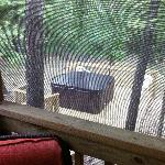 View of the Hot Tub from the Screened in Porch