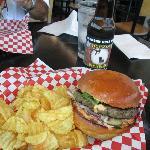 Burger, Chips & Buckin Root Beer