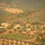 Vista panoramica della Grossola dalla collina di Montalcino