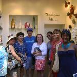 Visiting the booth of glass artist Christopher Jeffries