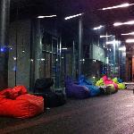 Beanbags in outdoor area