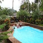 Vue depuis la terrasse bungalow De Luxe