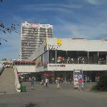 Hotel Kyjev and the shopping centre