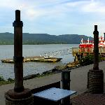 View from our table, Torches on the Hudson