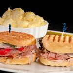 Ham, Capicola, Salami Sandwich with Mustard Potato Salad