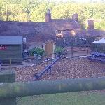 View of rooms from top of beer garden