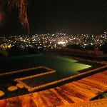 The Casa Cuitlateca infinity pool at night