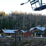 Chairlift on Lutsen hillside at Eagles Ridge.