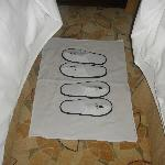 even slippers were laid neatly for turn down service