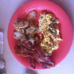 delicious fresh breakfast