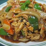 "Pork w/Black Bean Sauce ~~ ""black bean"" has a stronger aroma which adds a punch if flavor"