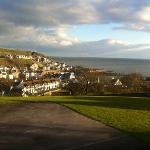 the picturesque view of Portpatrick from the Fernhill Hotel
