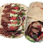 doner kebab in a pitta wrap