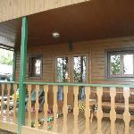 Vue du chalet avec terrasse