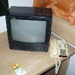 old tv and phone