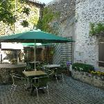 The courtyard - a place to relax in the sun or shade