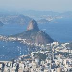 vista do bairro de Botafogo, a partir do Cristo