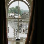 View from the arched window
