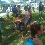 Water Balloon Toss at July 4th Celebration