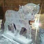 ice horse carved right in front of me
