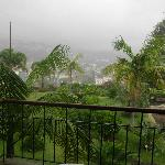 tropical storm from balcony