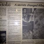 Another article on wall...kids enjoyed learning history from these