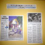 Articles on wall
