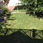 View of left yard from Ivy Room Balcony