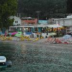 beach across loutrouvia hotel
