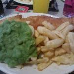 allegedly a medium haddock and chips. I can eat but even I was beat :) x