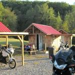 We currently have 5 cabins. Each cabin has covered bike parking.
