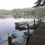 Boat dock & beach area on beautiful Lake Vanare