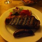 my 16oz sirloin and chorizo