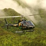 One of our helos over the rain forest portion of the tour.