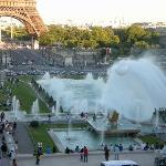 Trocadero, fountains & Eiffel Tower