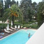 la piscina ed il parco