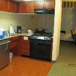 Two Room Suite Kitchen - Residence Inn Downtown Memphis