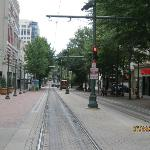 View of trolley line - front of hotel - Residence Inn Downtown Memphis