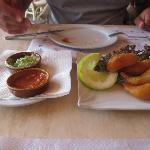 Amazing mojo sauces, wonderful fried shrimps!
