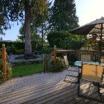 Rear garden deck