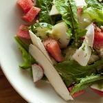 Fresh watermelon and jicama salad at the lodge.