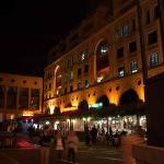 Night lights in Mandela Square