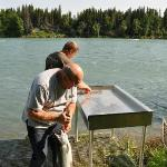 Fish cleaning station at the Cabin