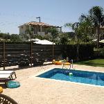 Pool area in villa Aggeliki