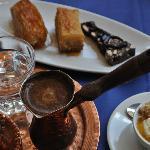 dessert and coffee
