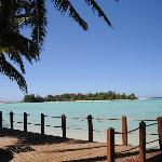 View from Muri Beachcomber deck