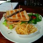 club sandwich in Bar-Restaurant Viceversa,the best in Estepona