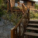 stairs to one of the 5 bungalows