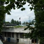 View from balcony of olld stadium of Slovan Bratislava